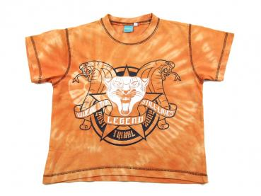 T-Shirt Gr. 122/128 orange Tiger Schlangen