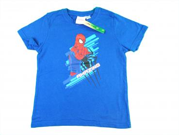 T-Shirt Gr. 116/122 Marvel blau Spiderman